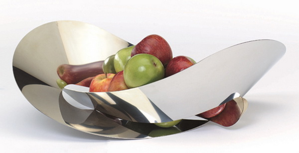 металлическая ваза для фруктов